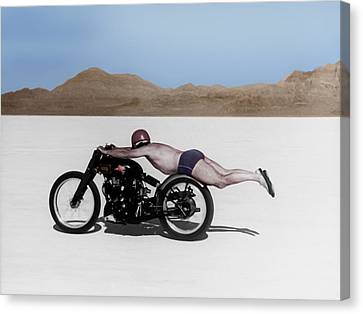 Vintage Canvas Print - Roland Rollie Free by Mark Rogan