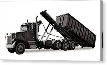 Roll Off Truck  Canvas Print by Olivier Le Queinec