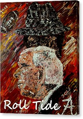 Roll Tide With Bear Bryant And Mal Moore  Canvas Print by Mark Moore