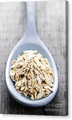 Rolled Oats Canvas Print by Elena Elisseeva