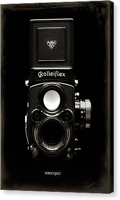 Classic Camera Canvas Print - Rolleiflex Tlr by Dave Bowman
