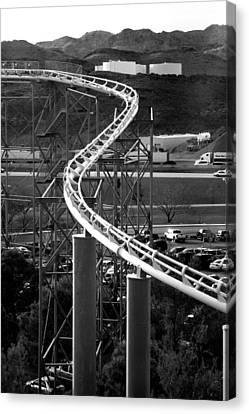 Roller Coaster Canvas Print by Chris Brannen