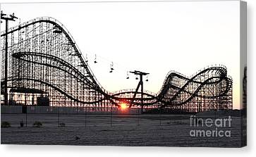 Roller Coaster Canvas Print by John Rizzuto
