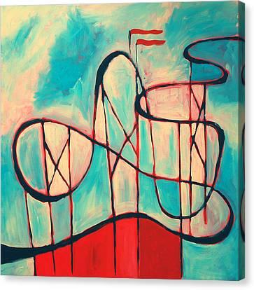 Roller Coaster Canvas Print by Karin Stein