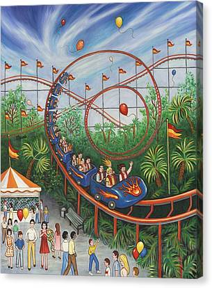 Roller Coaster Canvas Print by Linda Mears