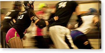 Roller Derby Canvas Print by Theresa Tahara