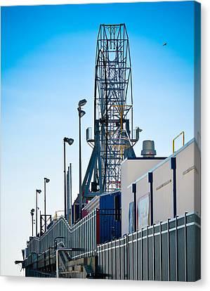 Casino Pier Canvas Print - Rollercoaster by Trish Tritz