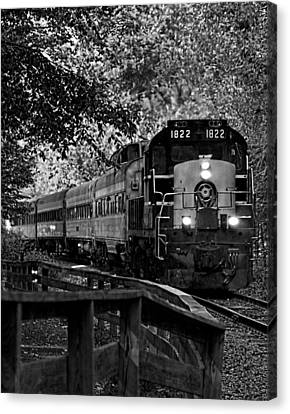Rollin' Down The Tracks Canvas Print