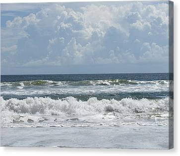 Rolling Clouds And Waves Canvas Print