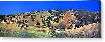 Rolling Hills In The Summer Canvas Print by Wernher Krutein