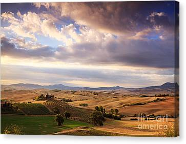 Rolling Hills Of Tuscany Canvas Print by Matteo Colombo