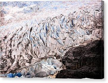Canvas Print featuring the photograph Rolling Ice Peaks by Davina Washington