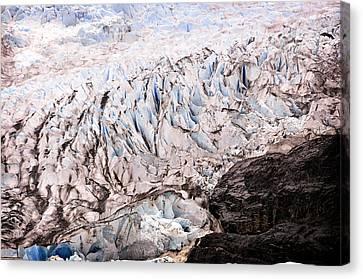 Rolling Ice Peaks Canvas Print by Davina Washington