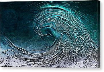 Rolling In The Deep Canvas Print by Barbara Chichester