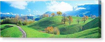 Rolling Landscape, Zug, Switzerland Canvas Print by Panoramic Images