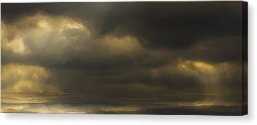 Rolling Sea Canvas Print by Ron Jones