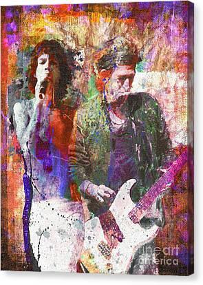 Rolling Stones Canvas Print by David Plastik