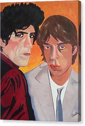 Rolling Stones Canvas Print by Paula Justus