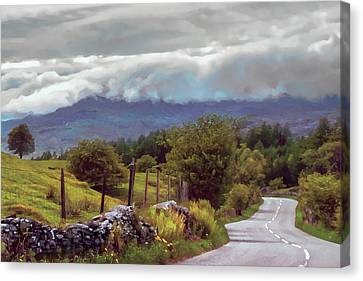 Rolling Storm Clouds Down Cumbrian Hills Canvas Print