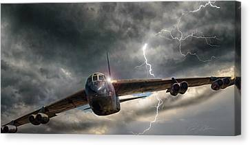 Thundering B-52 Canvas Print by Peter Chilelli
