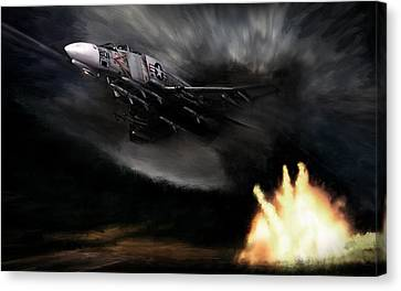 Rolling Thunder Canvas Print by Peter Chilelli