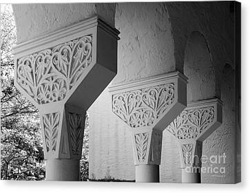 Rollins College Arcade Detail Canvas Print by University Icons