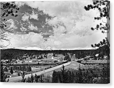Rollinsville Colorado Small Town 181 In Black And White Canvas Print by James BO  Insogna