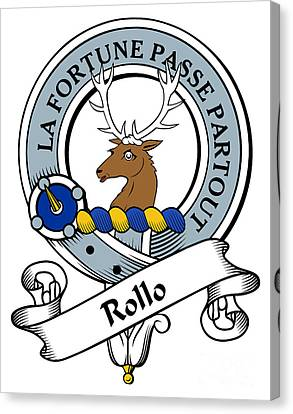 Rollo Clan Badge Canvas Print by Heraldry
