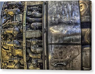 Rolls-royce Dart Turboprop Detail Canvas Print by Lynn Palmer