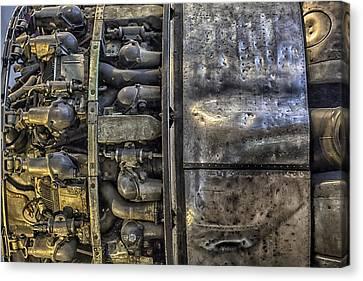 Rolls-royce Dart Turboprop Detail Canvas Print by Lynn Palmer
