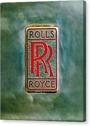Rolls-royce Emblem -1801c Canvas Print by Jill Reger