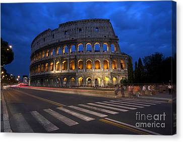 Roma Di Notte - Rome By Night Canvas Print by Marco Crupi