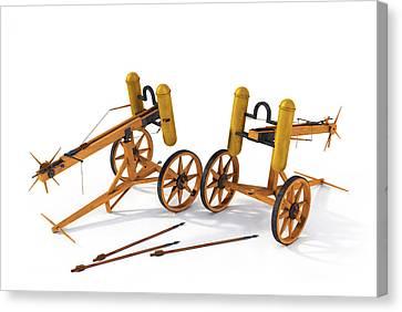 Roman Artillery Carroballista Model Soedel - Foley Canvas Print by Leone M Jennarelli