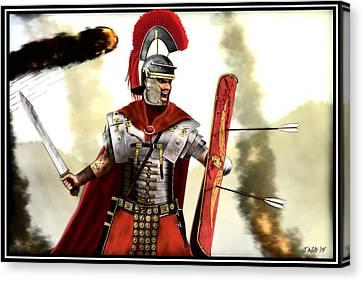 Roman Centurion Canvas Print by John Wills