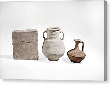 Roman Ceramics Canvas Print by Science Photo Library