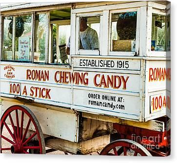 Roman Chewing Candy Nola Canvas Print