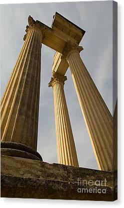 Roman Columns, Glanum, France Canvas Print by John Shaw
