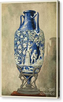 Roman Funerary Urn From Pompeii Canvas Print by Middle Temple Library