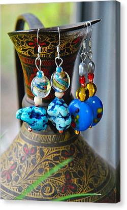 Roman Inspired Earrings  Canvas Print by ARTography by Pamela Smale Williams