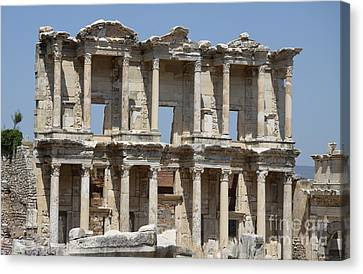 Library Of Celsus Canvas Print - Roman Library Of Celsus by Christiane Schulze Art And Photography