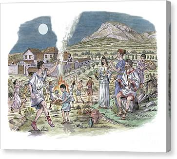 Roman Music And Dance, Artwork Canvas Print