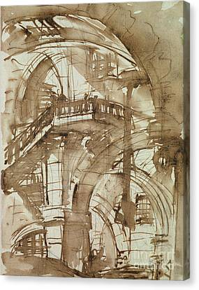 Roman Prison Canvas Print by Giovanni Battista Piranesi