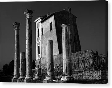 Abandoned House Canvas Print - Roman Ruin At Palatine Hill by Julian Cook
