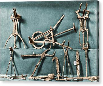 Canvas Print featuring the photograph Roman Surgical Instruments, 1st Century by Science Source