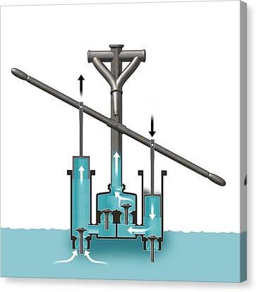 Roman Water Pump Design Canvas Print