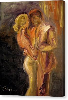 Blond Canvas Print - Romance by Donna Tuten