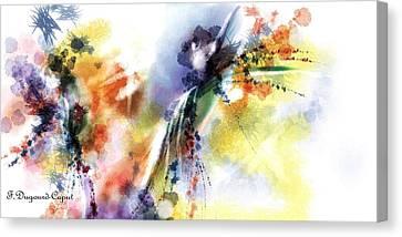 Romance Canvas Print by Francoise Dugourd-Caput