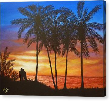 Romance In Paradise Canvas Print