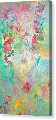 Canvas Print featuring the painting Romance Me - Acrylic On Canvas by Brooks Garten Hauschild