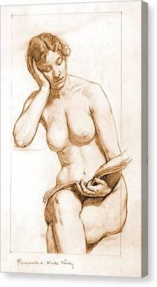 Romance - Nude Study 1896 Canvas Print by Padre Art